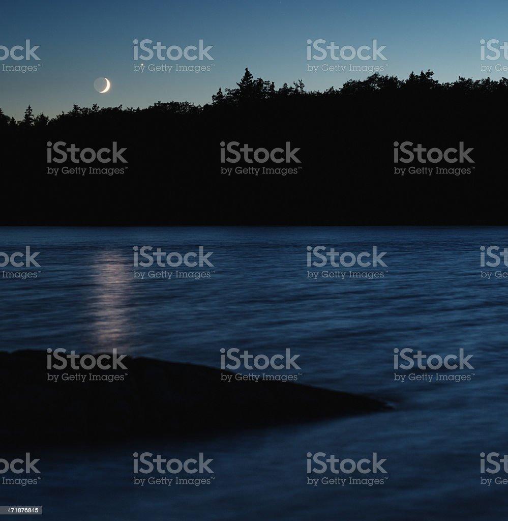 Lunar Reflection royalty-free stock photo