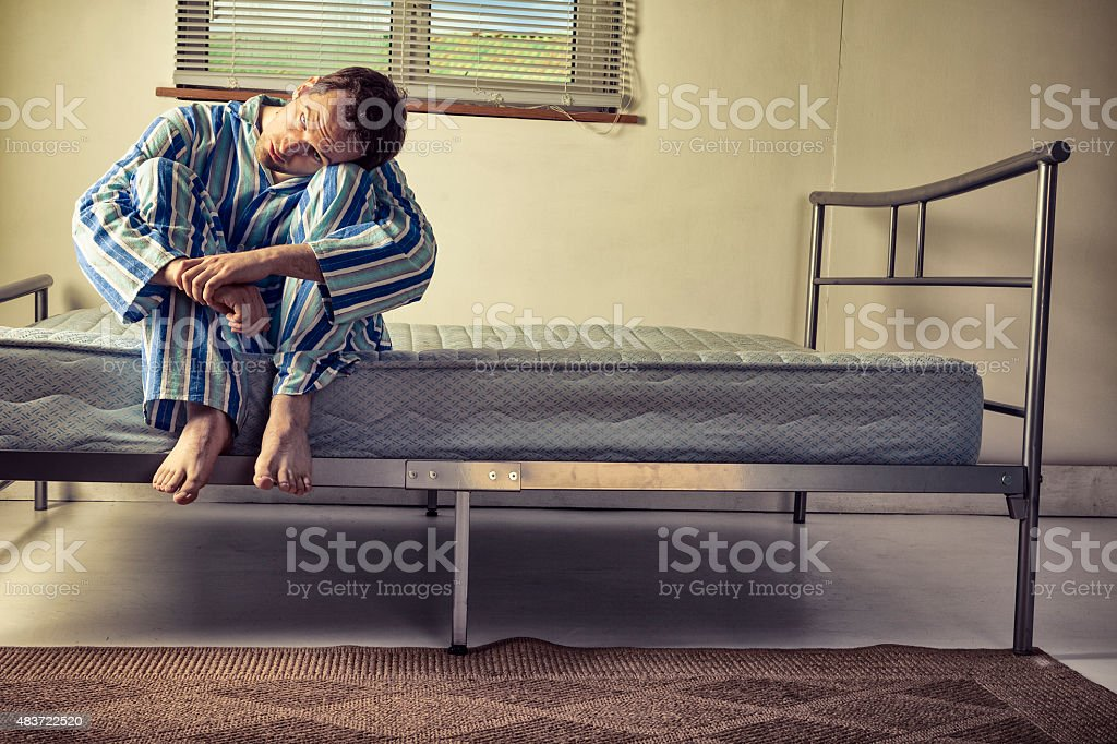 Lunatic In Striped Pyjamas stock photo