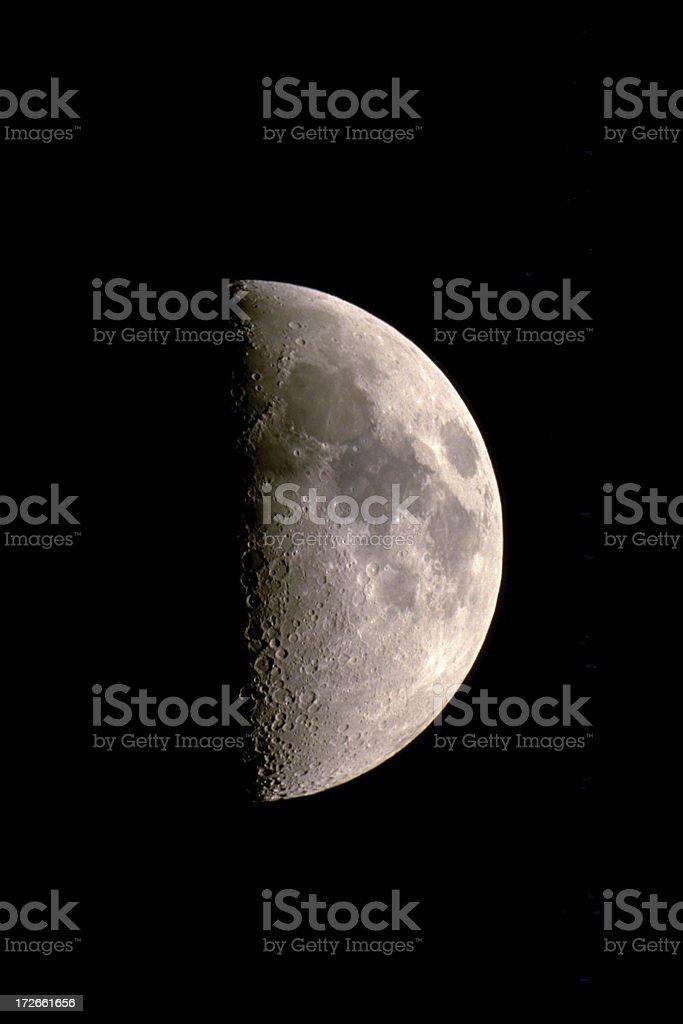 Lunatic moon royalty-free stock photo