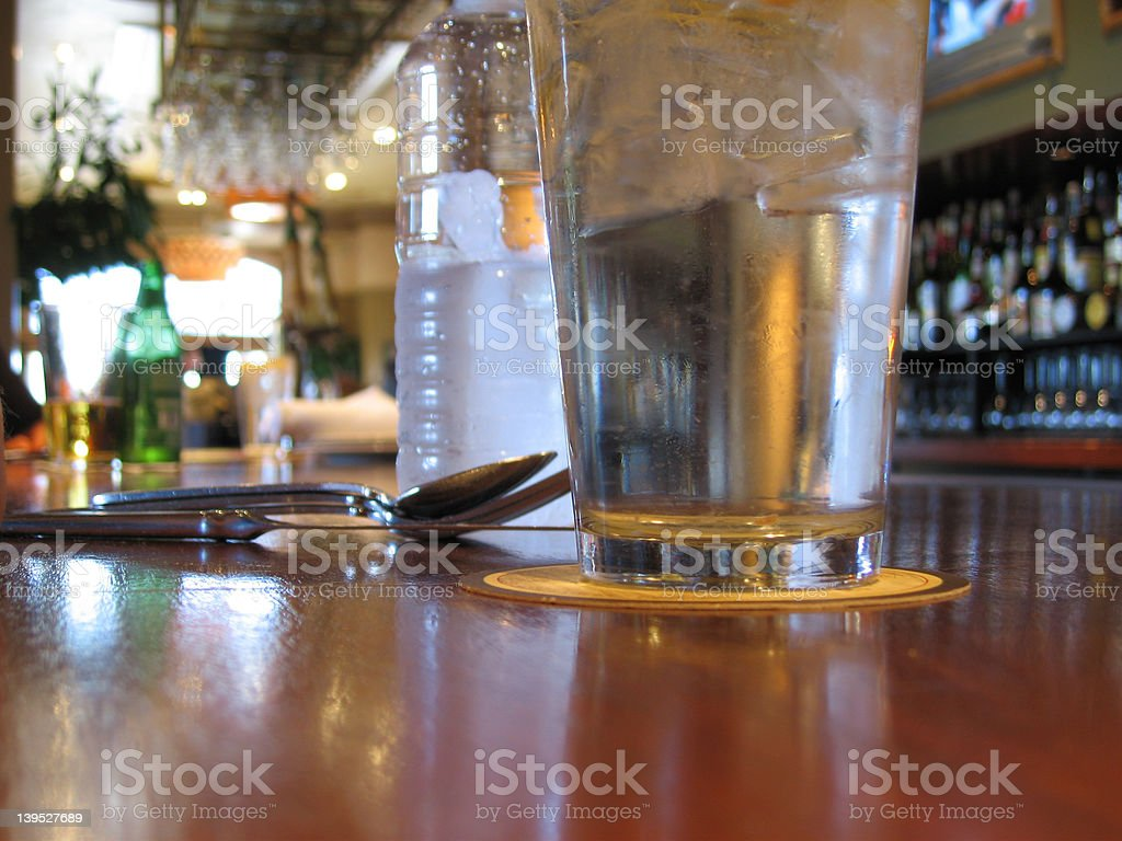 lunch at the bar royalty-free stock photo