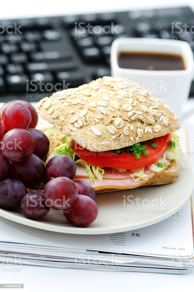 lunch at work royalty-free stock photo