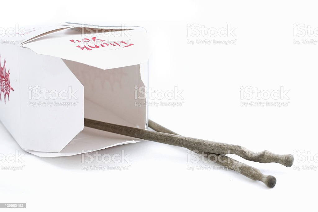 lunch box and chopsticks royalty-free stock photo