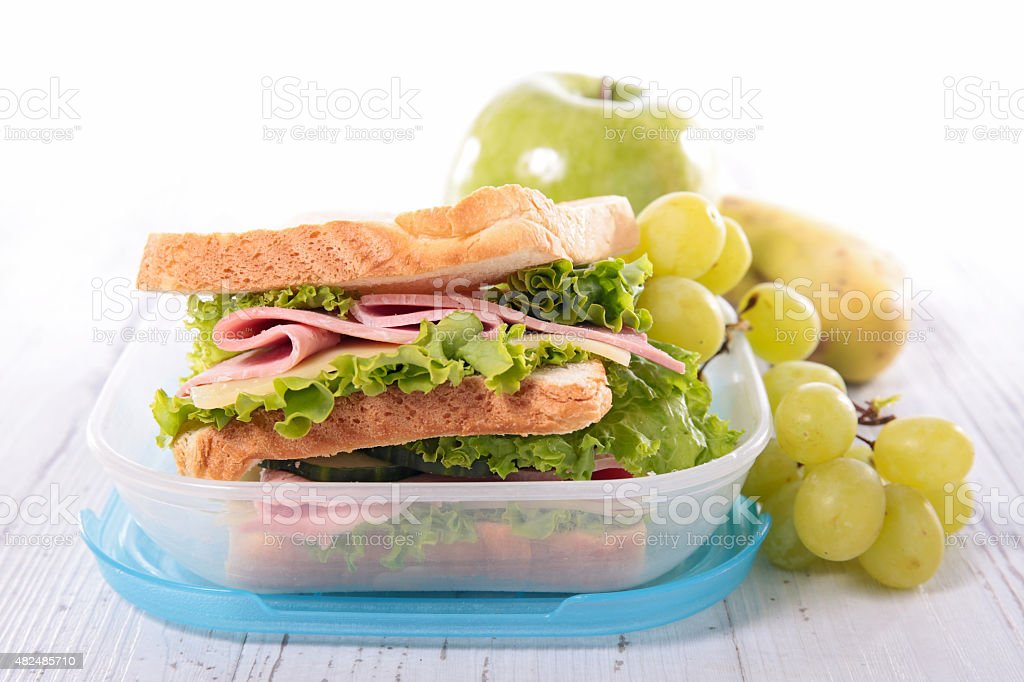 lunch box stock photo