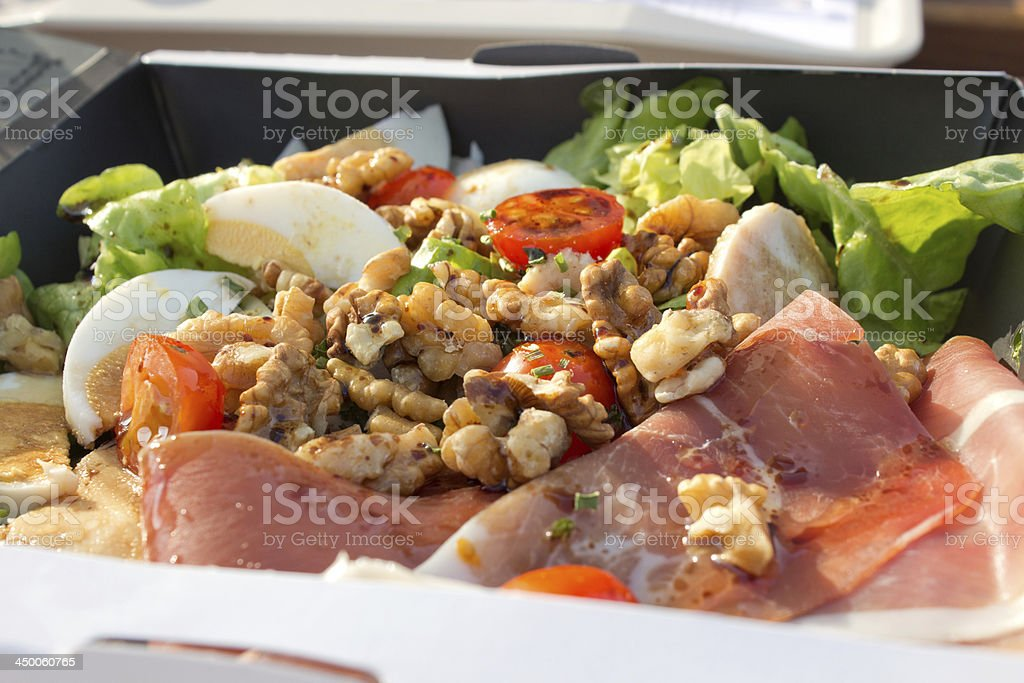 Lunch box salad royalty-free stock photo