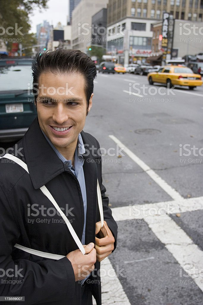 Lunch Break in NYC royalty-free stock photo