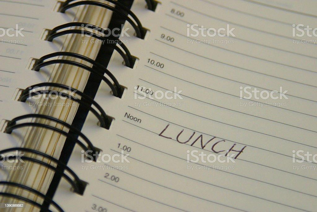Lunch Diary royalty-free stock photo