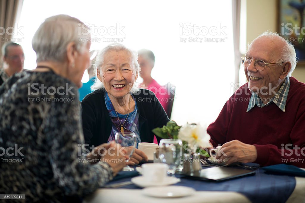 Lunch in a Nursing Home stock photo