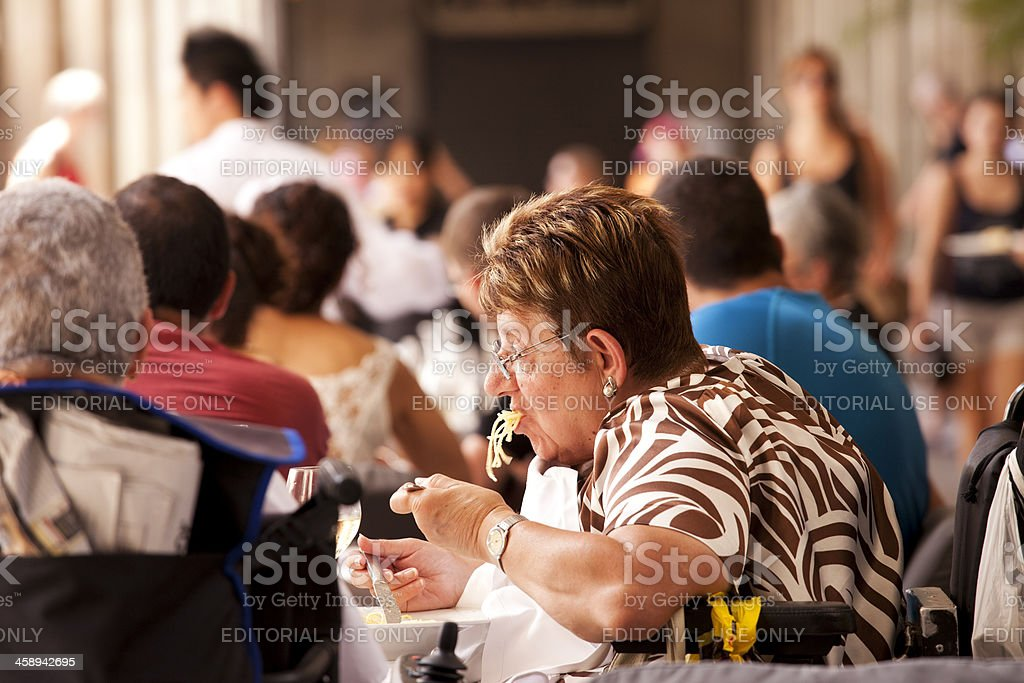 Lunch in Barcelona royalty-free stock photo