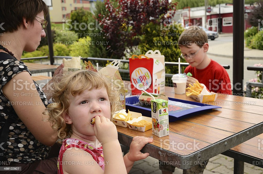 Lunch in McDonald's royalty-free stock photo