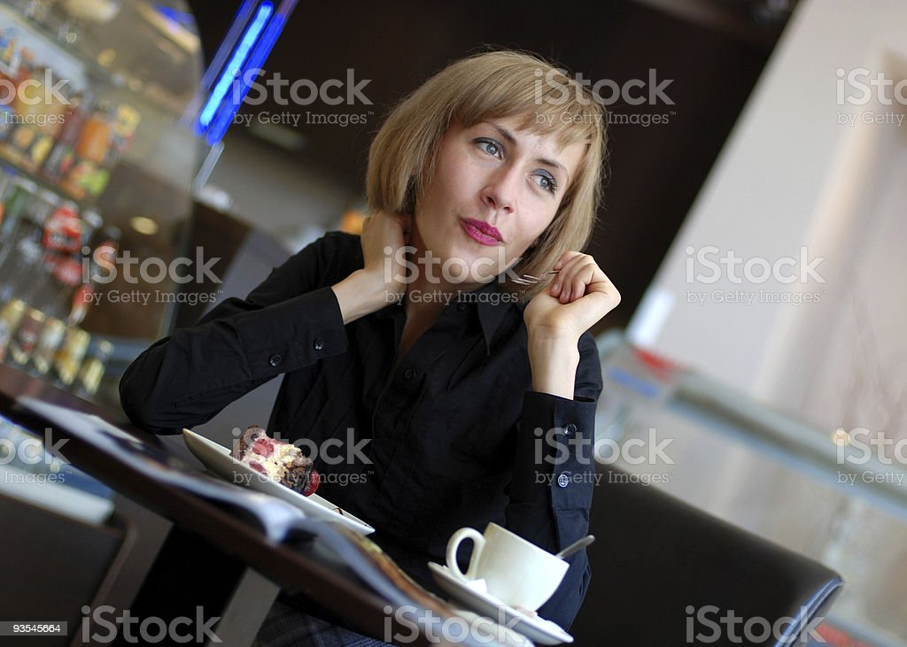 Lunch in restaurant royalty-free stock photo