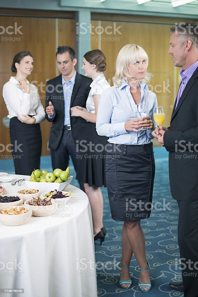 Lunch in the convention royalty-free stock photo