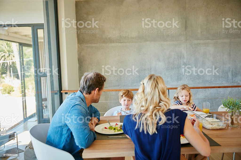 Lunch is best shared with loved ones stock photo