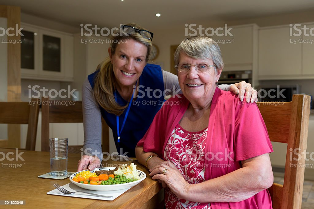 Lunch is served! stock photo