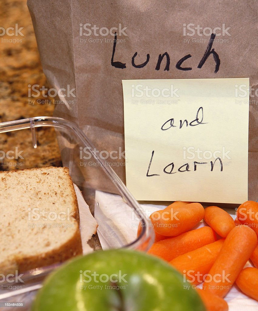 Lunch Learn stock photo