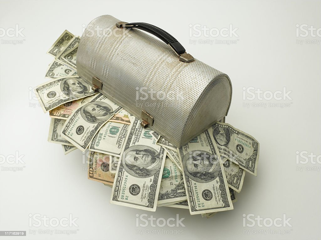 Lunch Money royalty-free stock photo