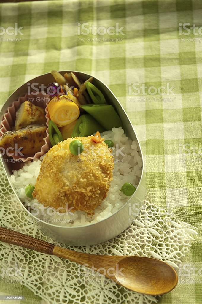 Lunch of chick motif stock photo