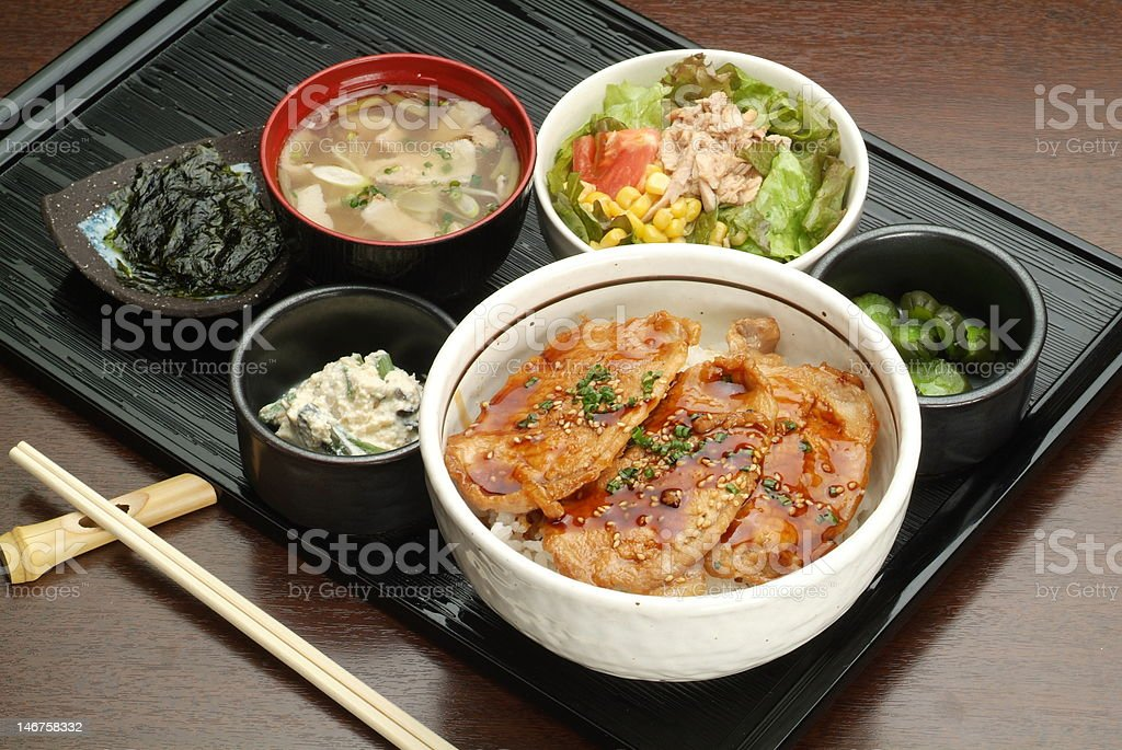 Lunch of Japan royalty-free stock photo