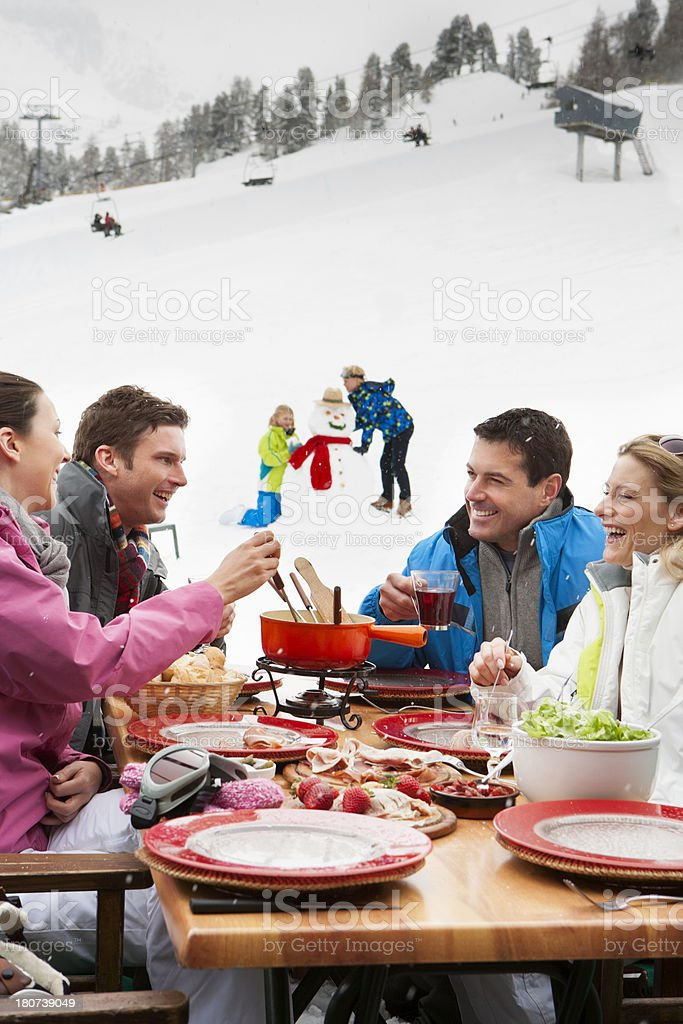 Lunch On The Slopes royalty-free stock photo