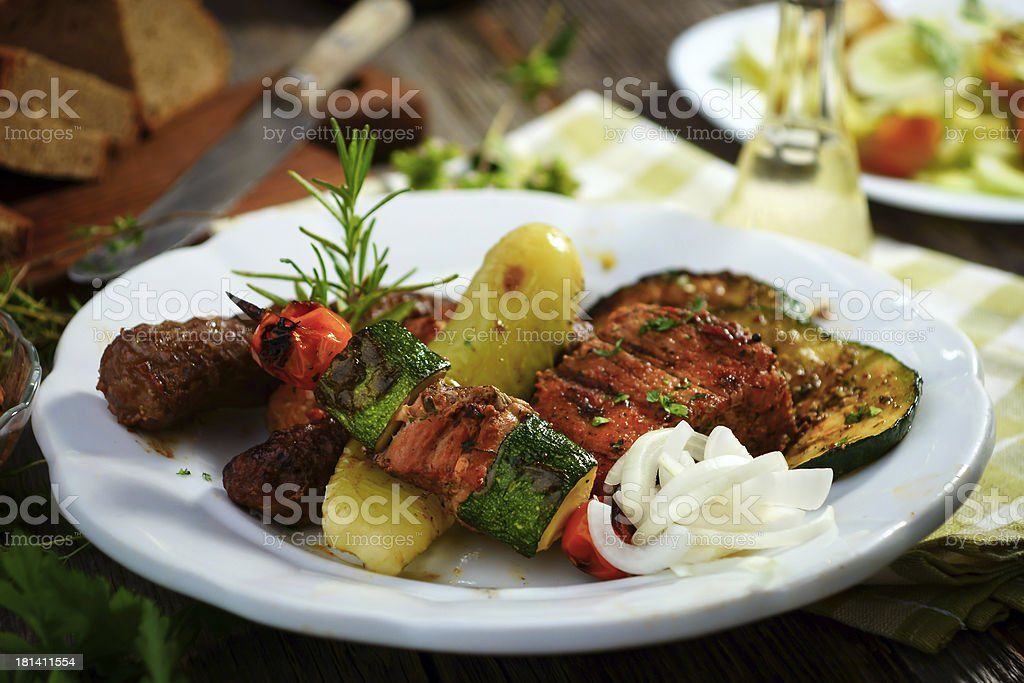 BBQ lunch royalty-free stock photo