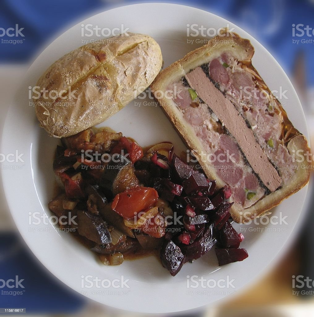 Lunch plate royalty-free stock photo