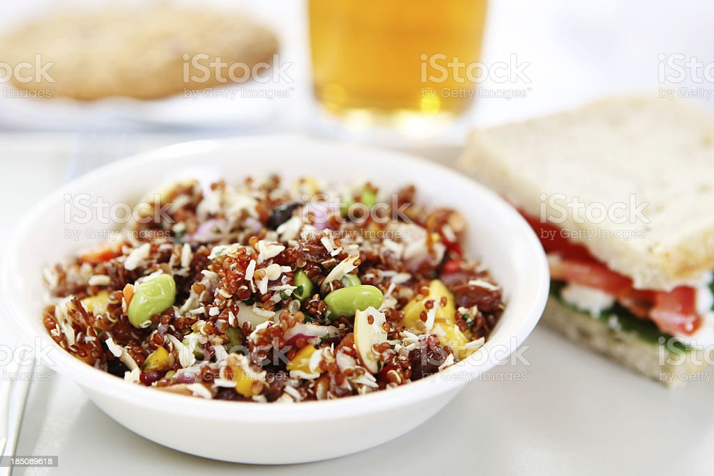lunch - quinoa salad and sandwich royalty-free stock photo