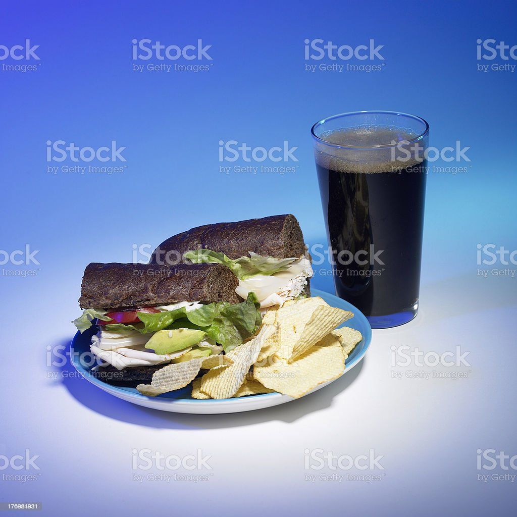 Lunch Sandwich royalty-free stock photo