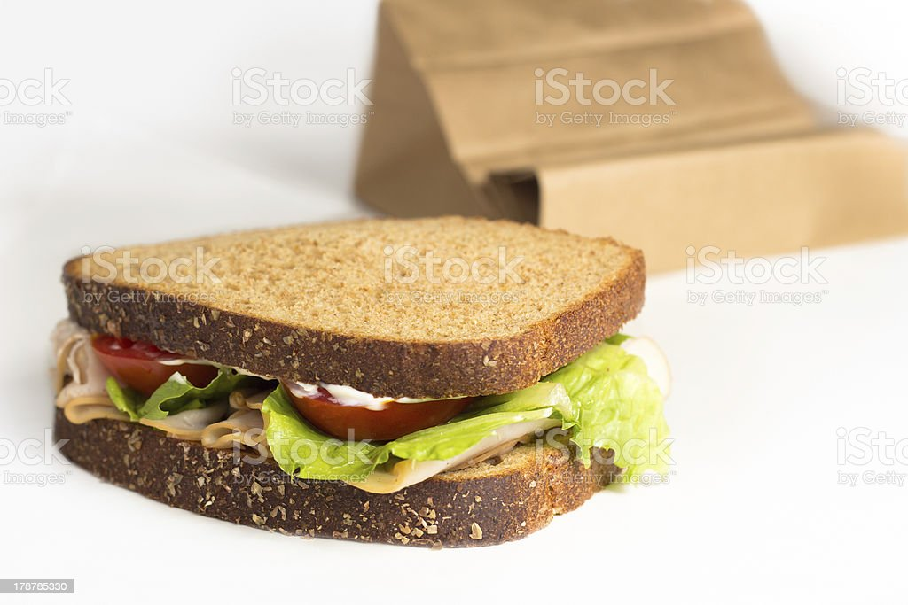 Lunch Sandwich To Go royalty-free stock photo