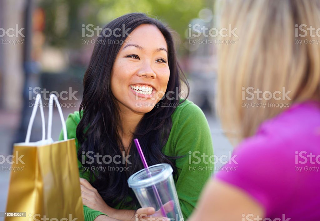 Lunch, then more shopping! royalty-free stock photo