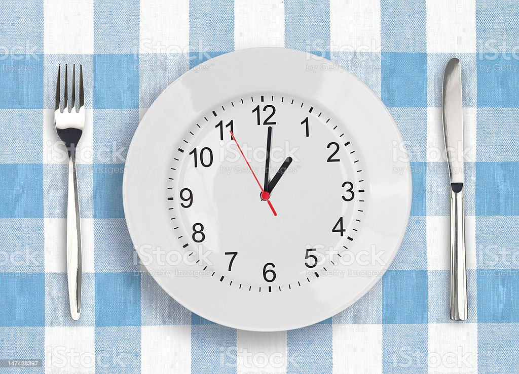 Lunch time concept royalty-free stock photo
