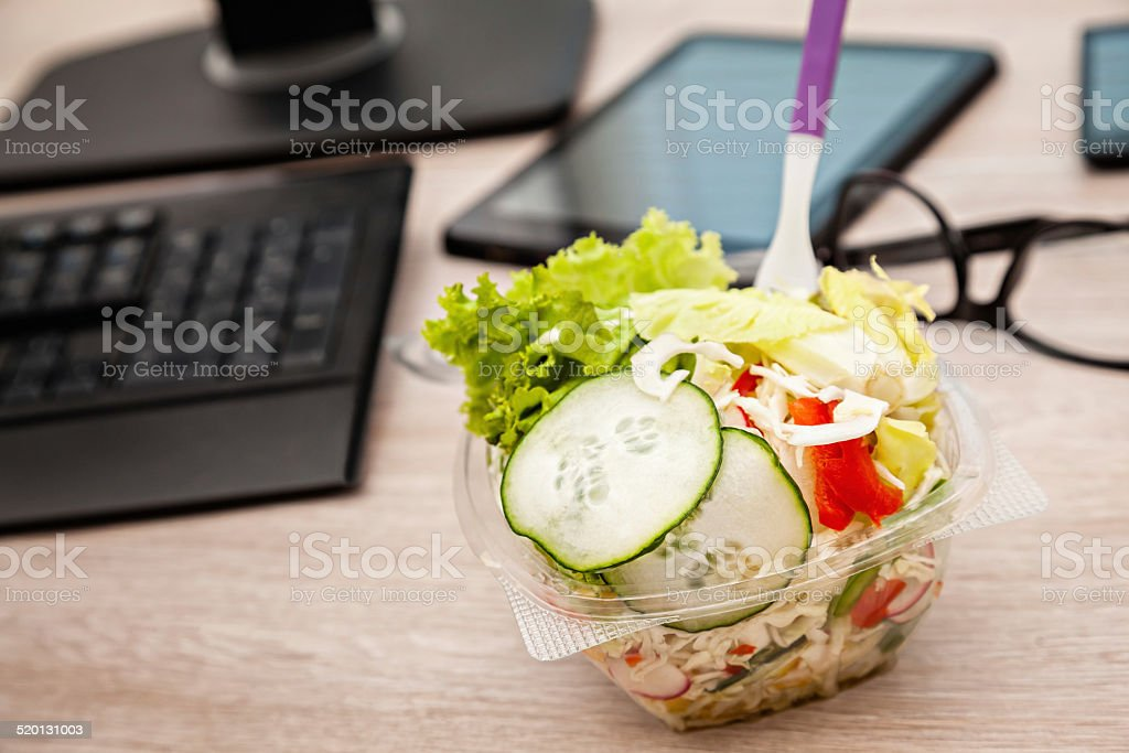 Lunch Time In Office stock photo