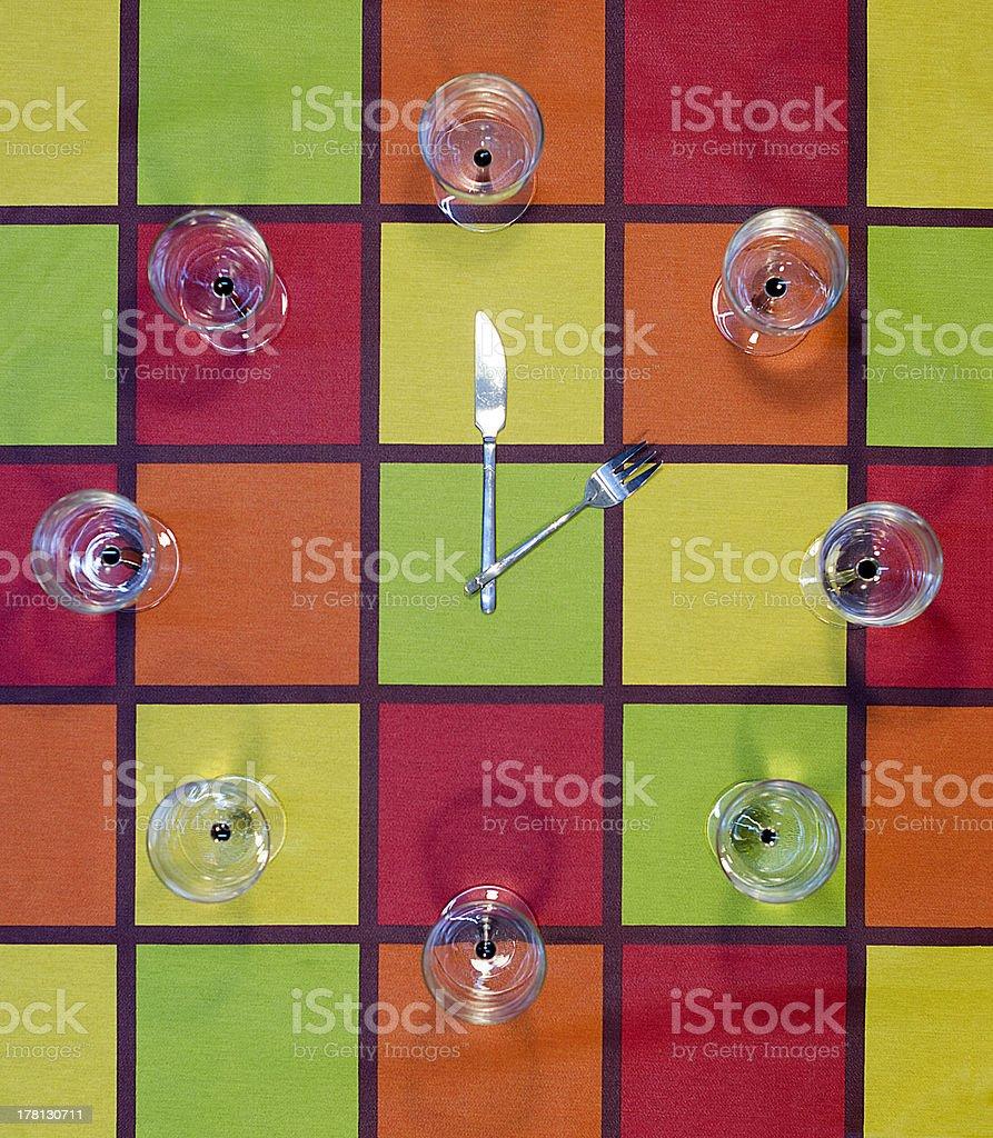 Heure du déjeuner photo libre de droits