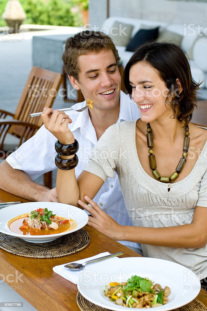 Lunch Together stock photo