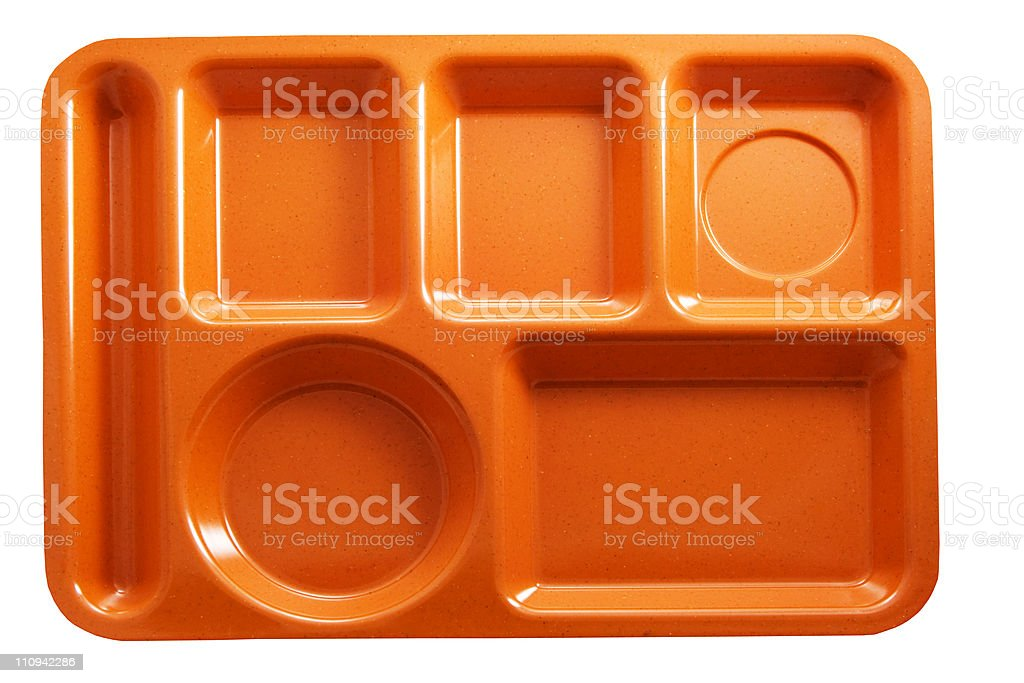 lunch tray stock photo