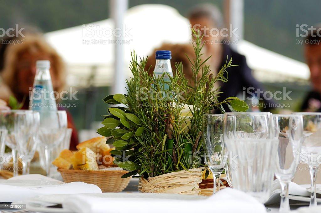 Lunch Under a Gazebo royalty-free stock photo
