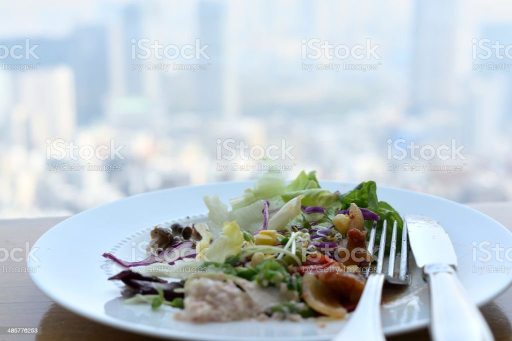 Lunch with a view royalty-free stock photo