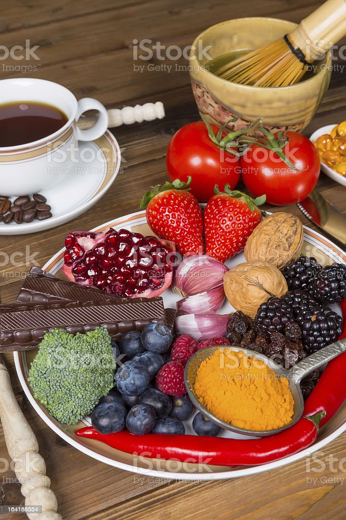 Lunch with antioxidants royalty-free stock photo