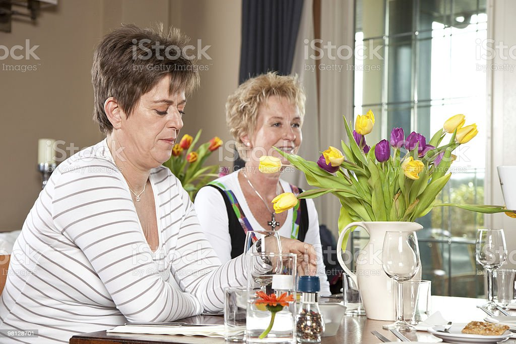 Lunch with friends royalty-free stock photo
