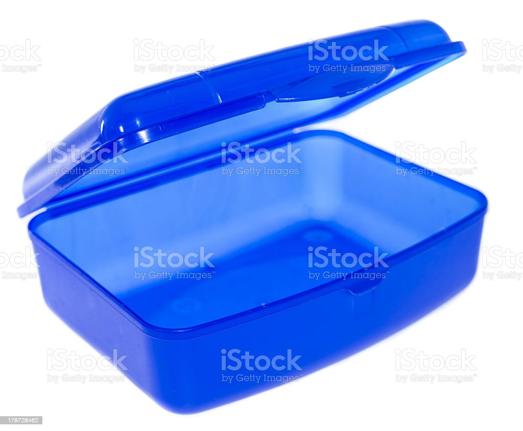Lunchbox isolated on white royalty-free stock photo