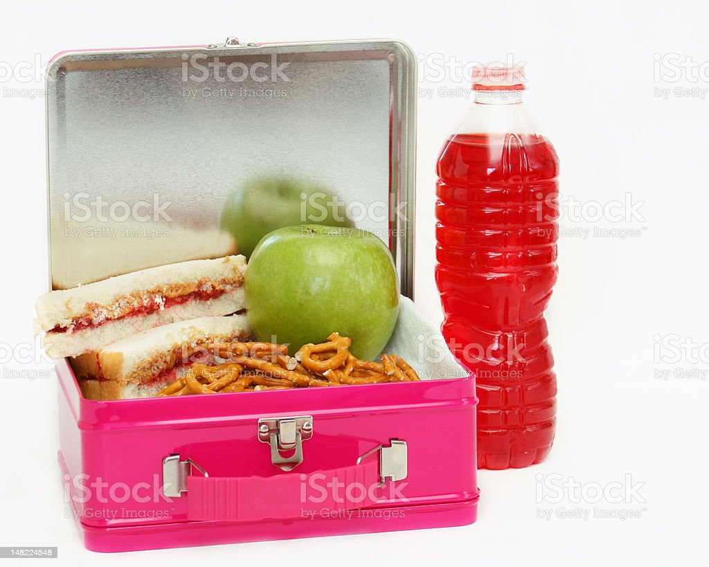 Lunchbox lunch - pink stock photo