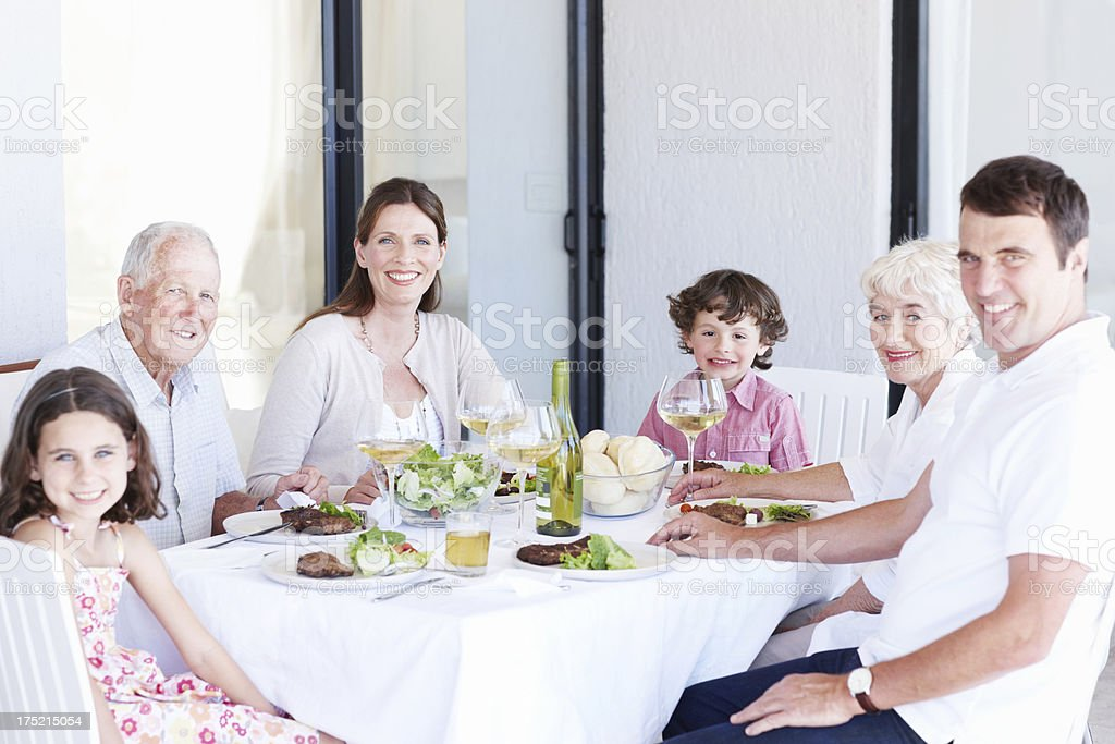 Luncheon with the family royalty-free stock photo