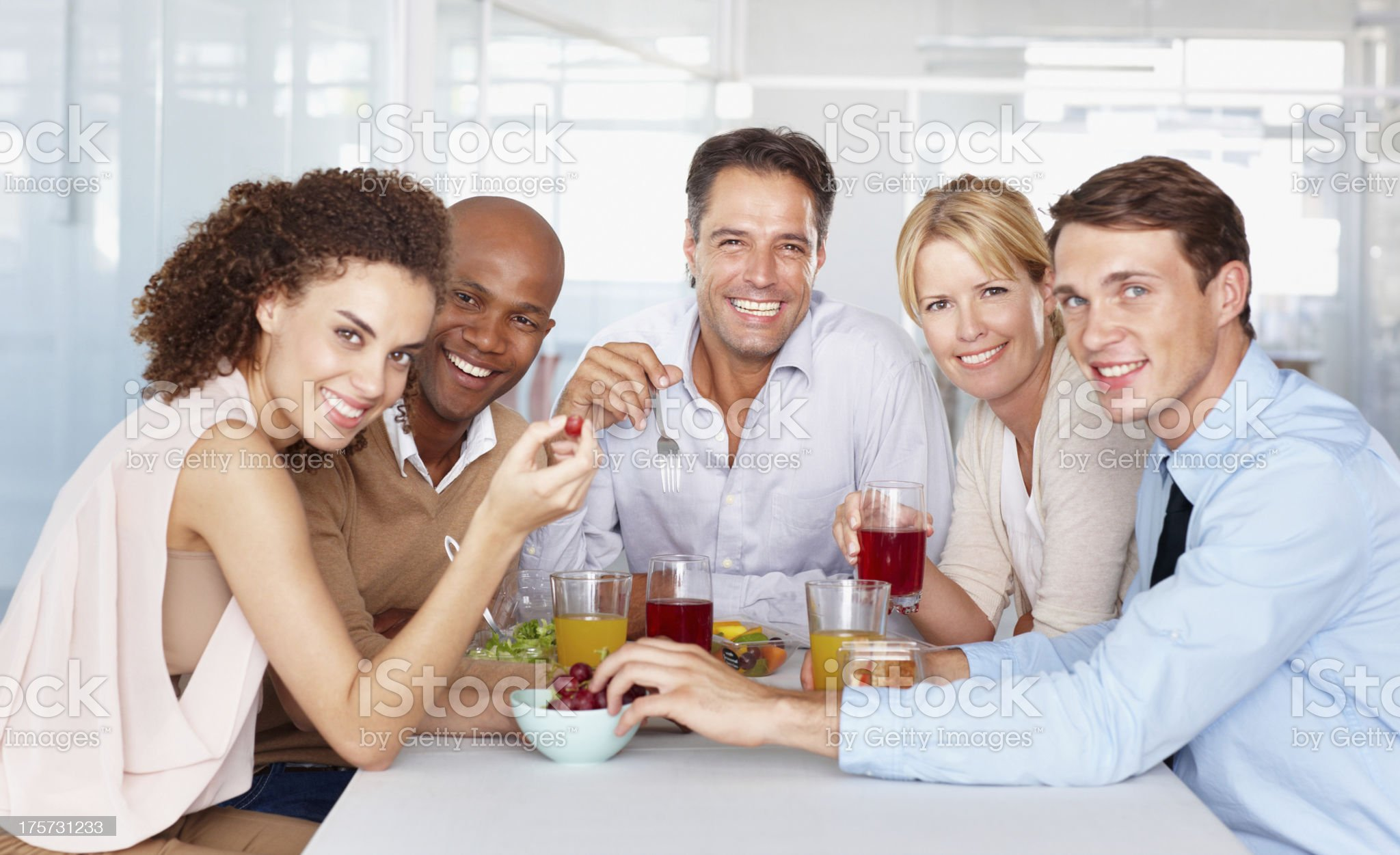 Lunching together! royalty-free stock photo