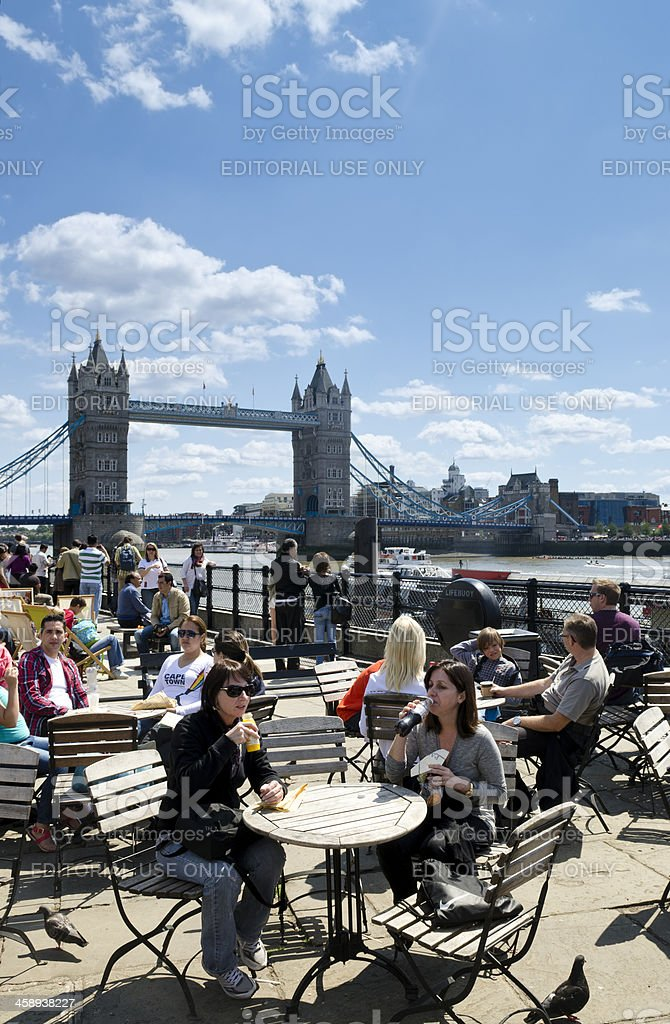 Lunchtime, Tower Bridge, London royalty-free stock photo