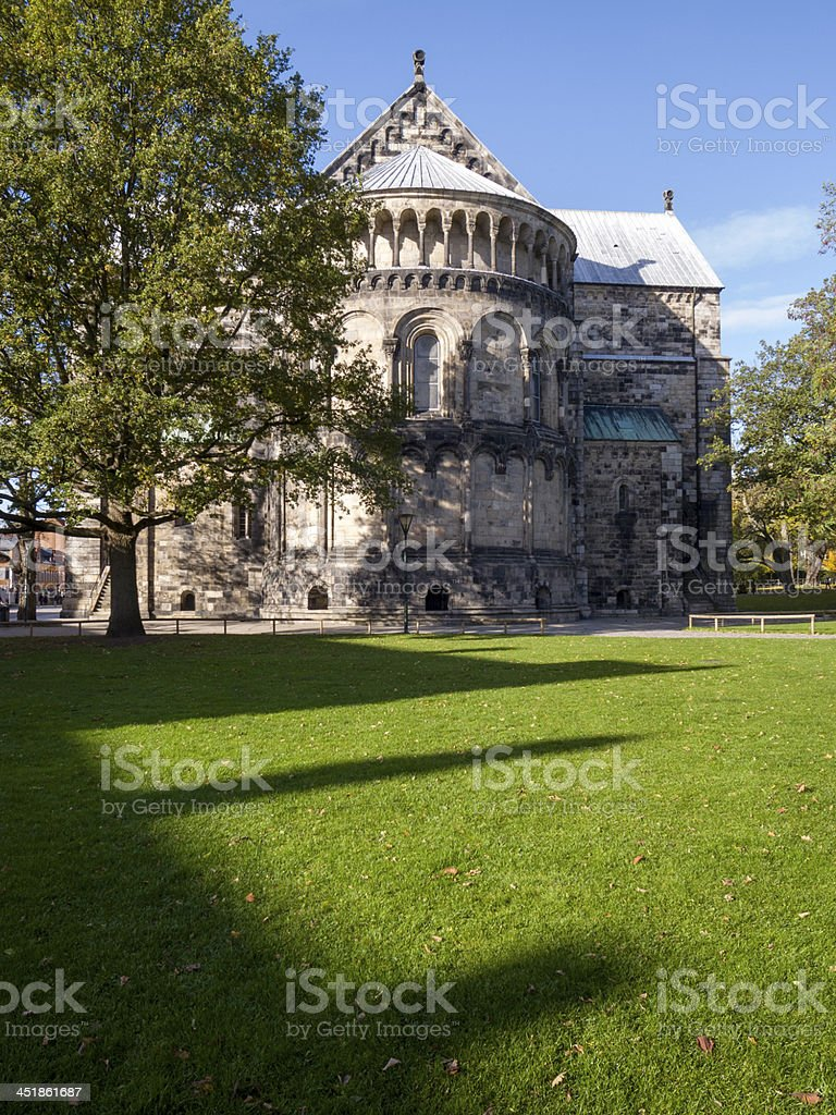 Lund Cathedral (Sweden) royalty-free stock photo