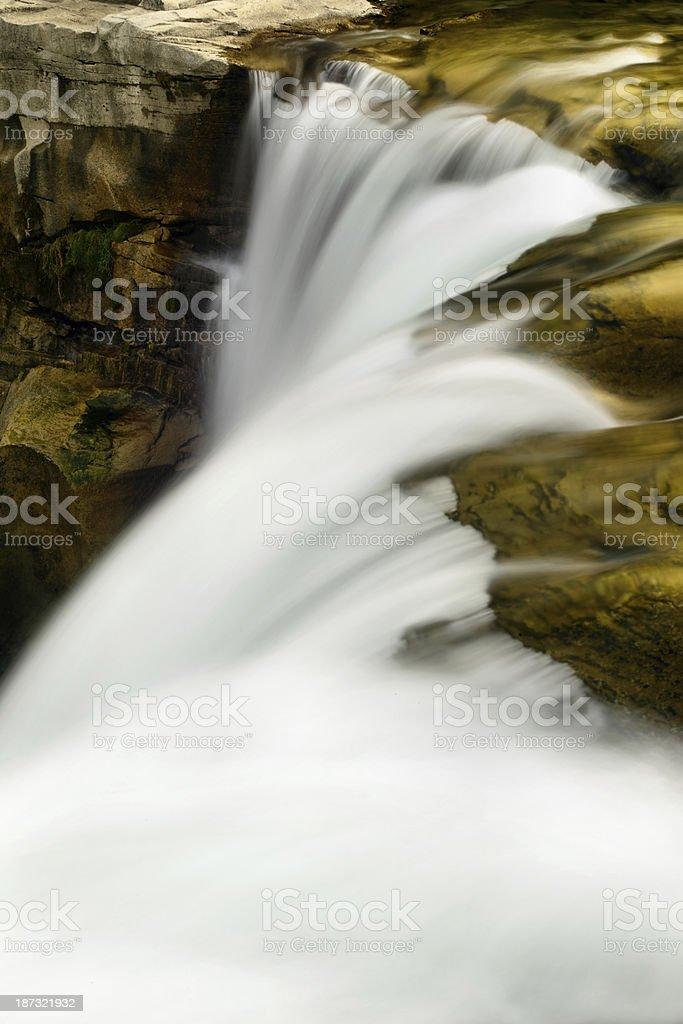 Lundbreck Falls royalty-free stock photo