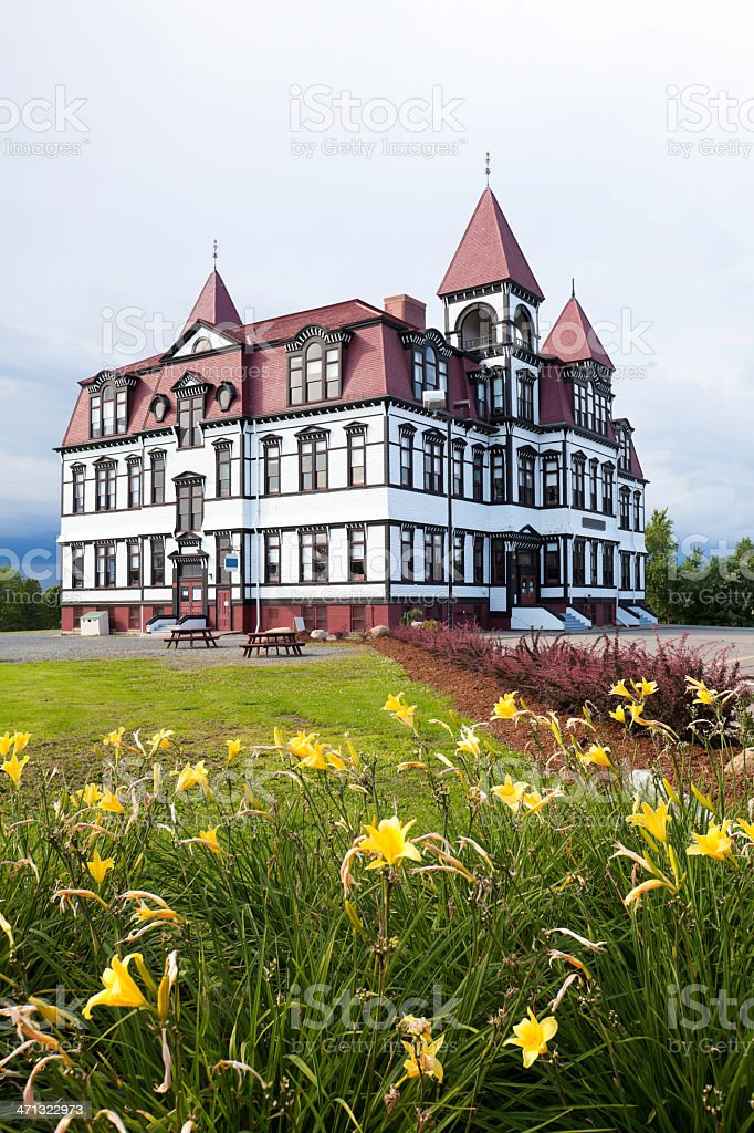 Lunenburg Academy of Nova Scotia stock photo