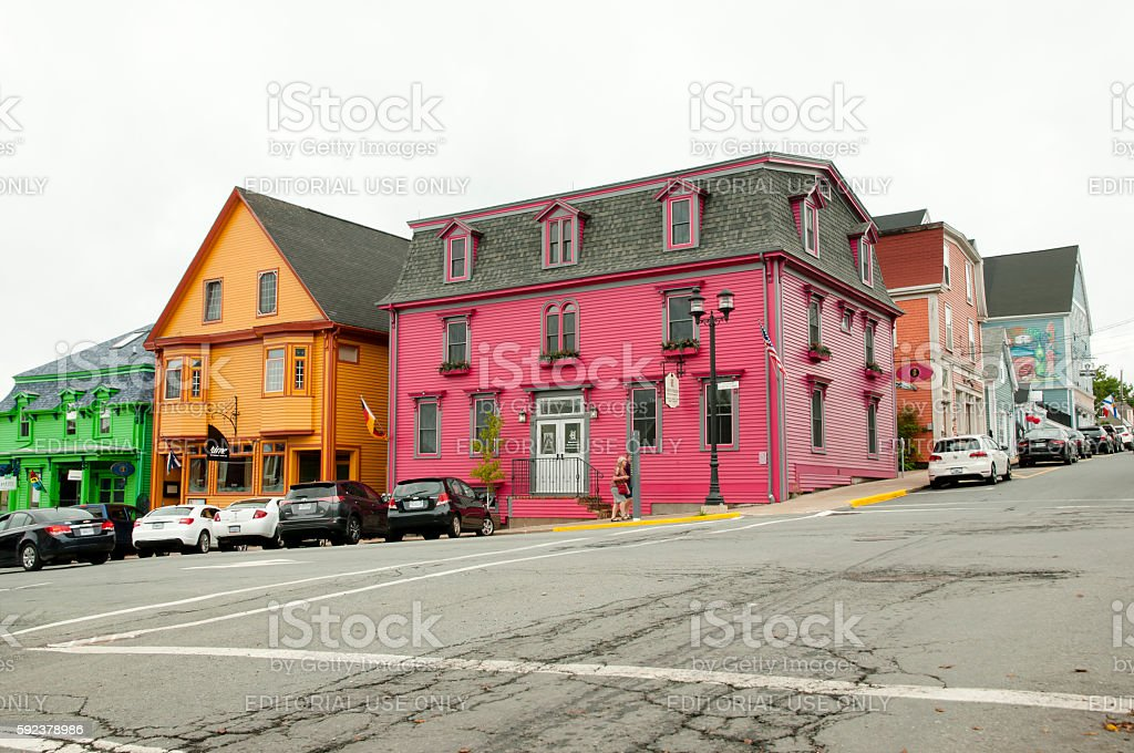 Lunenburg - Canada stock photo