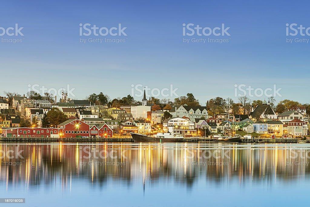 Lunenburg Waterfront Nova Scotia Canada stock photo