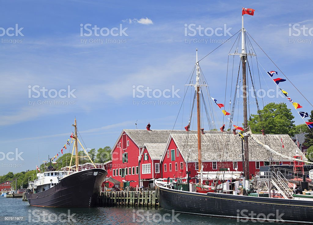 Lunenburg waterfront, Nova Scotia, Canada stock photo
