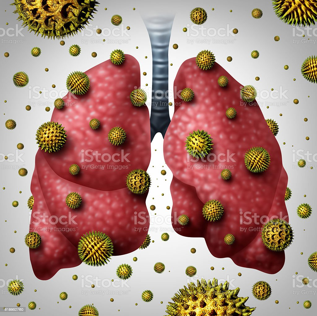 Lung Allergy stock photo
