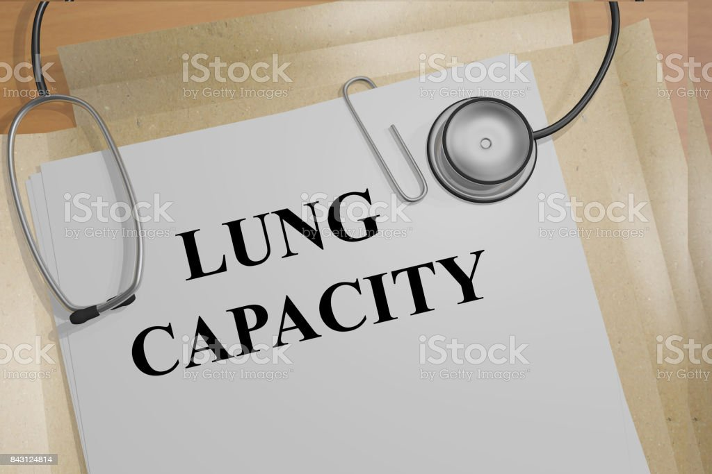 Lung Capacity concept stock photo